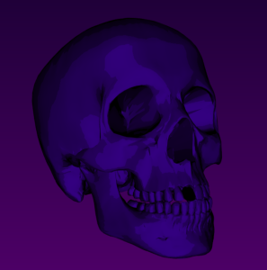 Cel-shaded Skull
