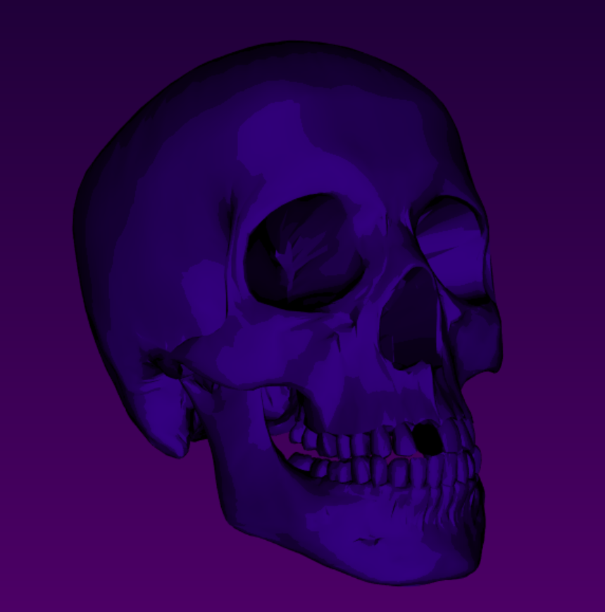 Shaders in VTK tutorial: Cel-shaded skull in Python example code