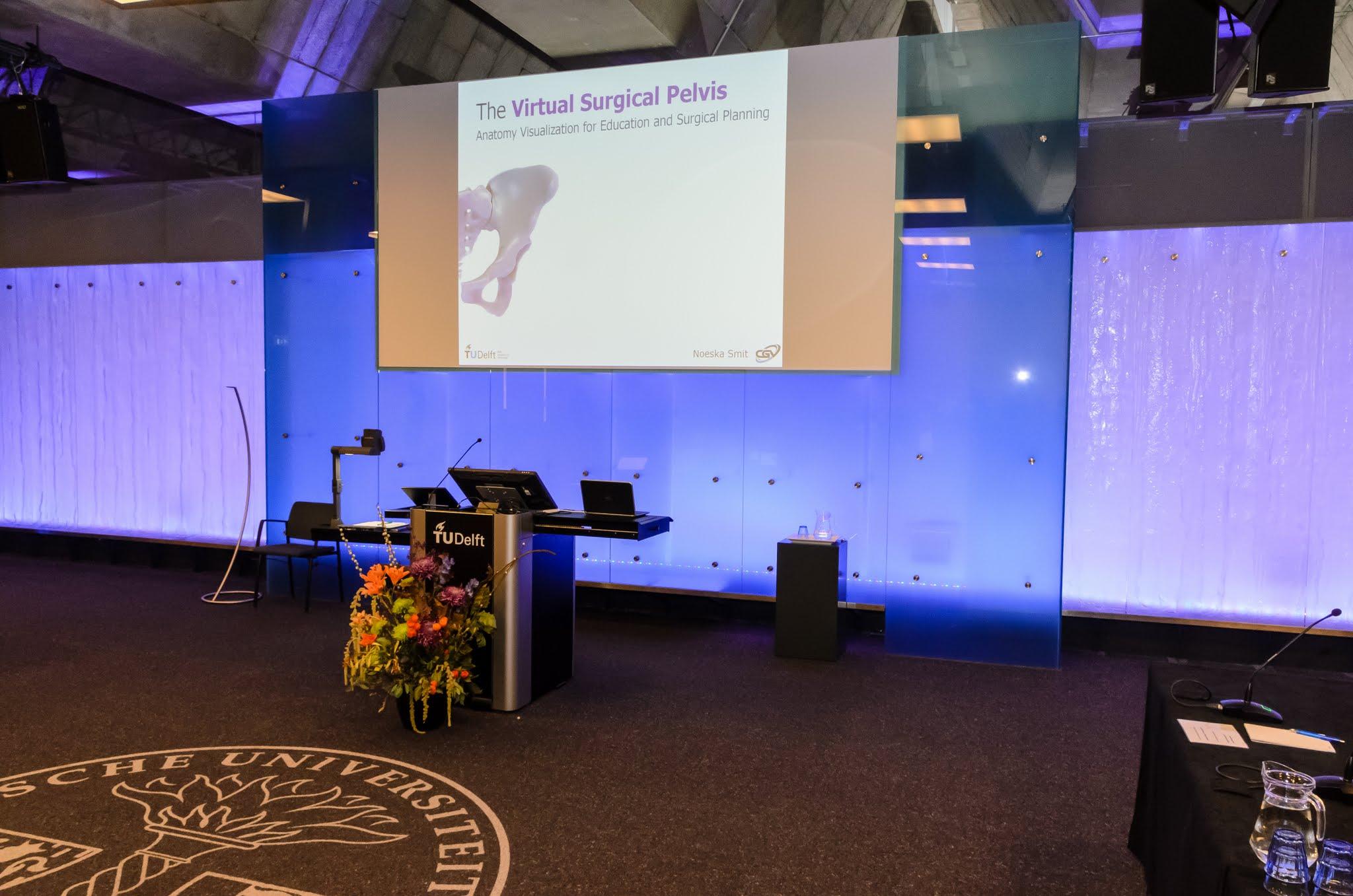 The venue: Senaatszaal at the TU Delft Aula